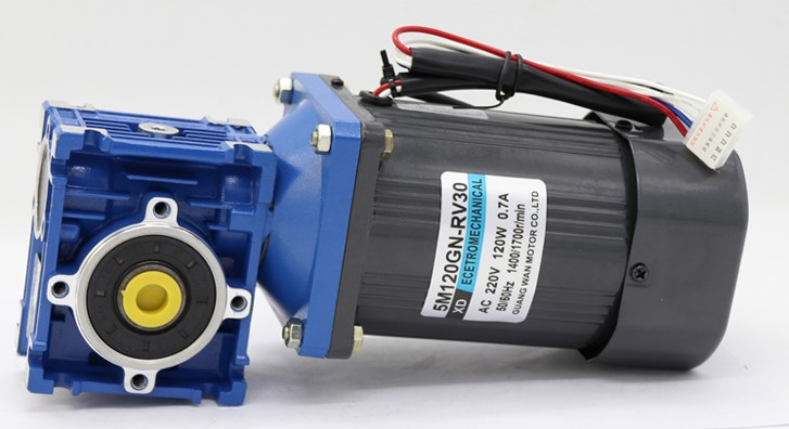 120W worm gear motor RV30 single-phase 220v AC speed motor torque positive and negative electric motor