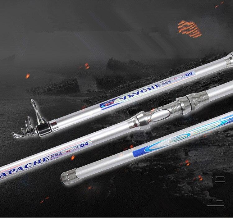 Cannes à pêche télescopiques carbone carpe dure cannes à pêche 3.9 M/4.4 M/4.5 M matériel de pêche cannes d'alimentation de mer