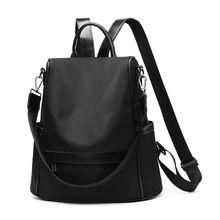 2019 新スタイルの女性の財布ナイロン盗難防止防水カジュアルコンバーチブルリュックサック軽量スクールショルダーバッグ