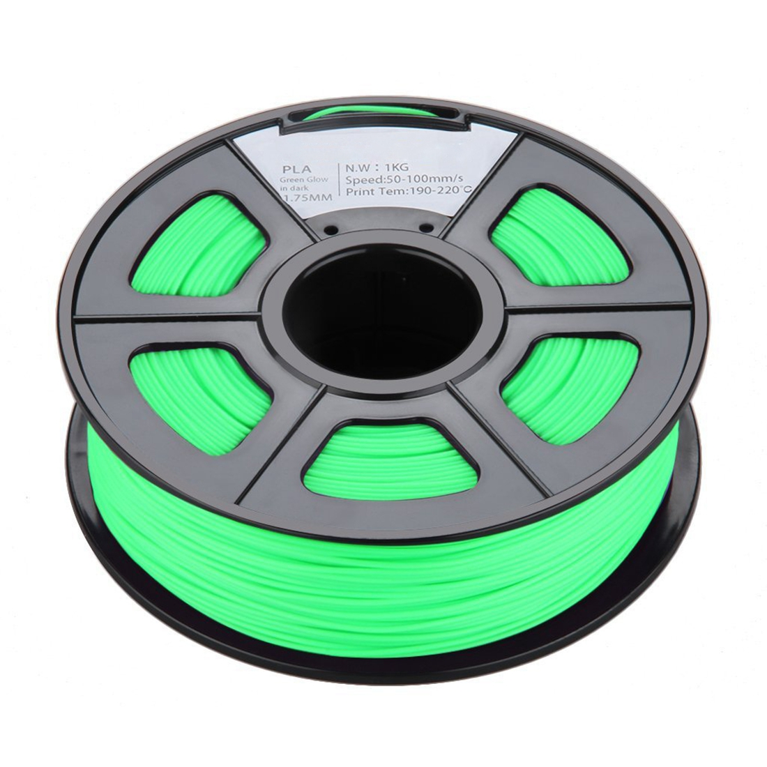 PPYY NEW New 1.75mm Glow in the Dark PLA 3D Printer Filament 1kg Spool (2.2 lbs) Dimensional Accuracy +/ 0.02mm