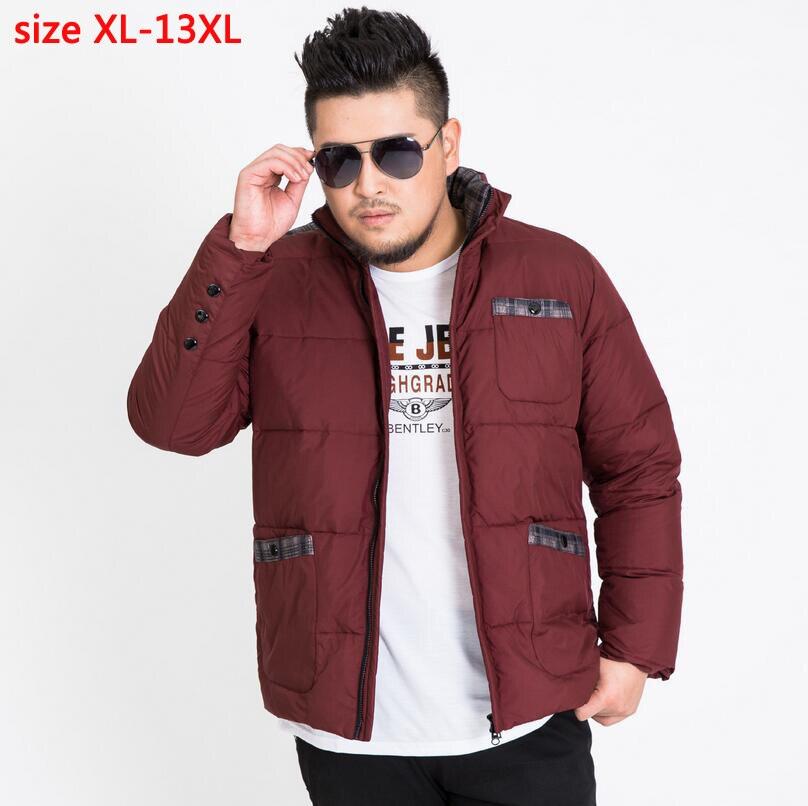 new arrival men fashion super large bust 185 cm casual obese   down     coat   thick outerwear plus sizeXL-9XL10XL11XL12XL13XL 171