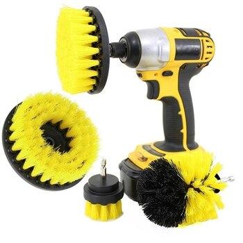 3 Pcs Power Scrubber Brush Set per il Bagno Trapano Scrubber Spazzola per La Pulizia Cordless Trapano Kit di Fissaggio di Alimentazione Macchia Pennello