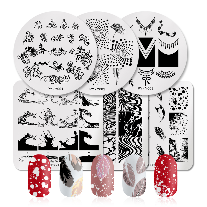 Image 3 - PICT YOU Rose Flower Series Stamping Plates Stainless Steel Nail Image Stamp Template Manicure Design Plate With Stamp-in Nail Art Templates from Beauty & Health