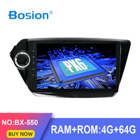 Bosion PX6 Android 9.0 4G+64G car dvd gps player for Kia K2 2012 radio gps navigation with mirror link steering wheel WIFI BT