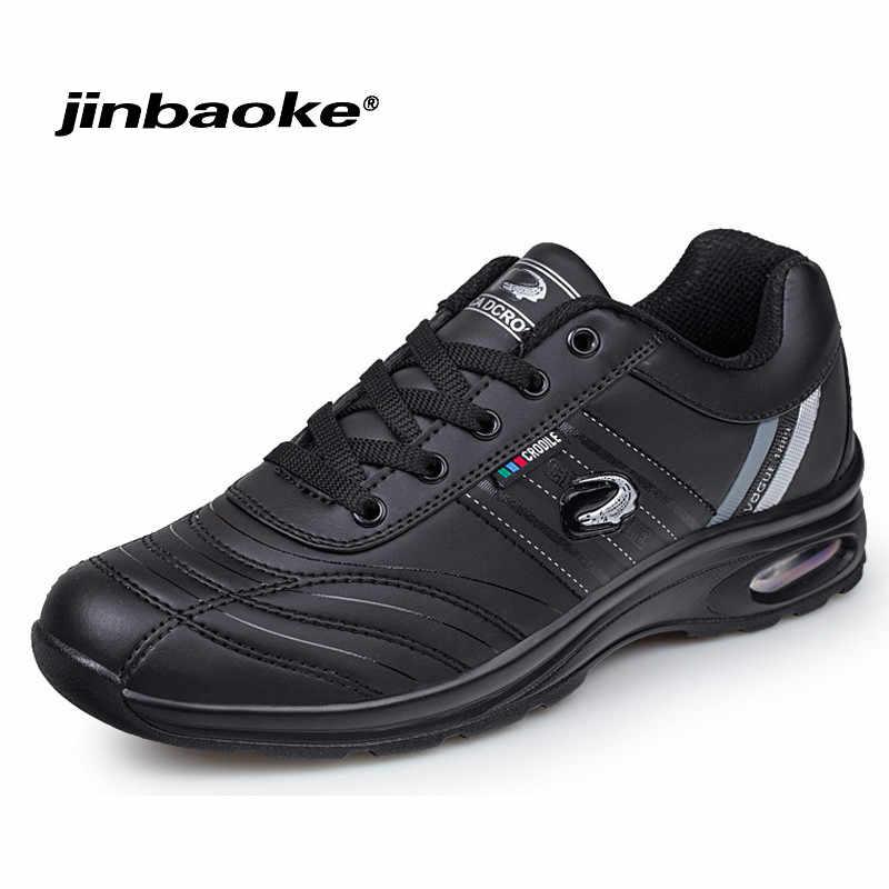 4dbab2644d8c Легкие кожаные кроссовки для мужчин осень зима мужские кроссовки 9908  уличная амортизация Бег Прогулки Спортивная обувь