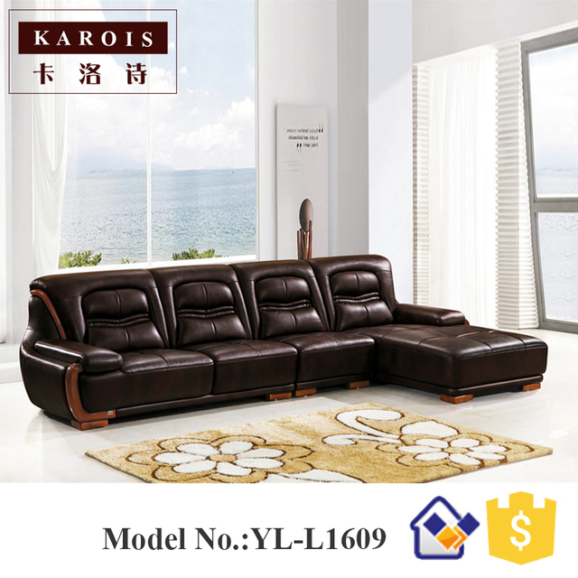 New Style modern corner leather sofa designs drawing room sofa set