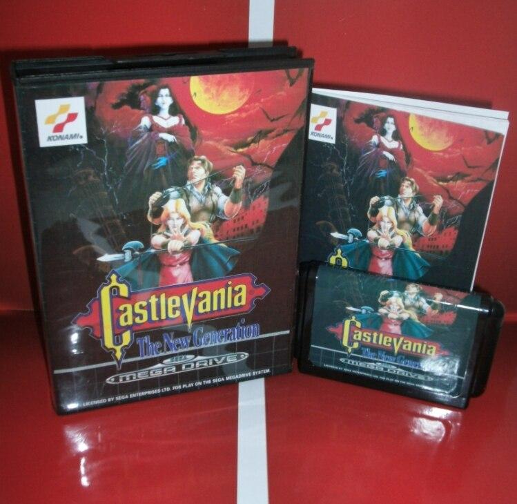 Castlevania-die Neue Generation EU Abdeckung mit Kasten und Handbuch für Sega Megadrive Genesis Videospielkonsole 16 bit md-karte