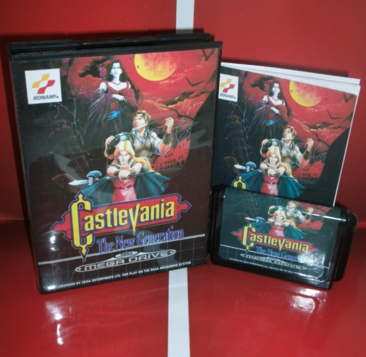 Castlevania - the New Generation EU Cover with Box and Manual For Sega Megadrive Genesis Video Game Console 16 bit MD card 16 bit sega md video game console 720p out put support put card arcade classic collection