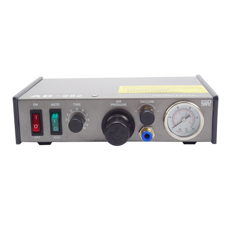 220V AD-982 Semi-Auto Glue Dispenser PCB Solder Paste Liquid Controller Dropper Fluid dispenser