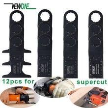 12pcs Oscillante Utensili Elettrici Seghe Lame Kit Per Fein SUPERCUT di plastica di LEGNO e più