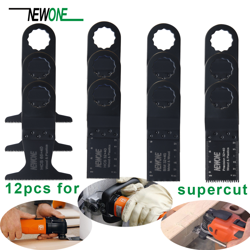 12pcs Oscillating Power Tools Saw Blades  Kit For Fein SUPERCUT wood plastic and more