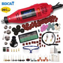 BDCAT 220 V Ferramentas Elétricas Mini Broca com 0.3-3.2mm Chuck & Shiled Univrersal Kit de Ferramentas Rotativas conjunto Para Dremel 3000 4000