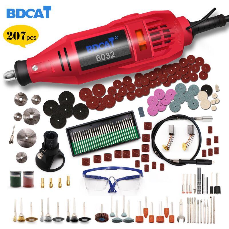 BDCAT 220 V outils électriques Mini perceuse électrique avec mandrin Univrersal de 0.3-3.2mm et Kit d'outils rotatifs étaillés pour Dremel 3000 4000