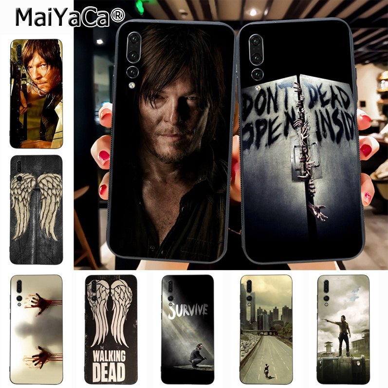 Maiyaca The walking dead daryl dixon norman reedus On Sale! Luxury phone Case for Huawei P20 P20 pro Mate10 P10 Plus Honor9 cass(China)