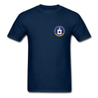 CIA Central Intelligence Agency LOGO T Shirt US Government Agents Men Tee Euro SizeS XXXL