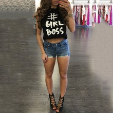 Women Tank Tops Letters Printed Cute Crop Tops Lady Tees Fashion Summer Style Casual Shirts Women Short Shirts