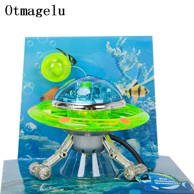 US $9 8 42% OFF|Rockery UFO Miniature Aquarium Statue World of Tanks  Decorative Fish Tank Ornaments Background Float Aquarium Decor Landscape-in