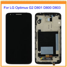 For LG Optimus G2 D801 D800 D803 LCD Display with Touch Screen Digitizer + Black/White Frame + Tools Free Shipping
