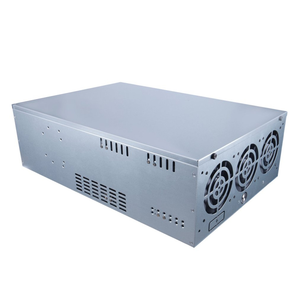 Professional Mining Case ETH BTC Open Air Mining Miner Frame Rig Coin Graphics Case For 6-8 GPU with 5 Powerful Fans