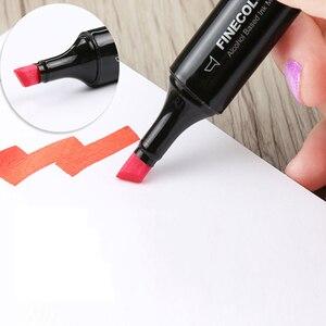 Image 3 - قلم تحديد احترافي لرسم اللوحات الفنية على شكل فرشاة ناعمة برأسين فاين كلور EF102