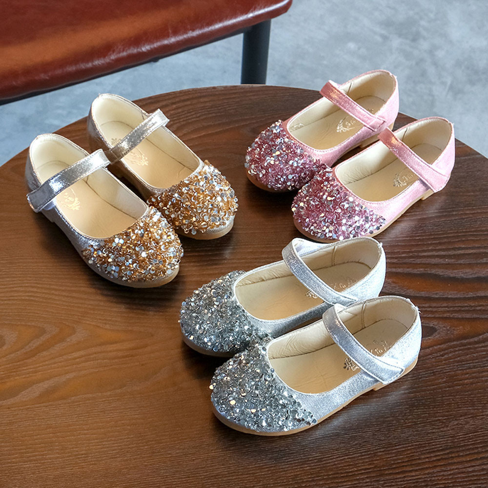 Single-Shoes Enfant Toddler Baby-Girls Kids Crystal Chaussure Meisjes Schoenen Sapatos