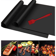 5pcs New BBQ Grill Mats Non Stick Oven Liner Teflon Heat Resistant Barbecue For Party Baking Pad Reusable Cooking Plate