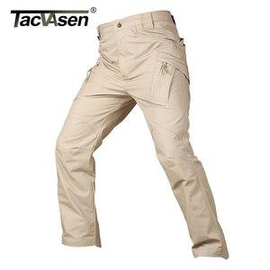Image 4 - Tacvasen calças táticas dos homens da marinha multi bolsos rip stop carga calças de trabalho militar combate algodão calças airsoft exército caminhada