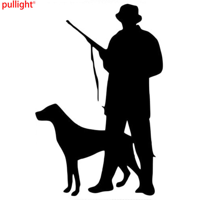 CM Hunter Dog Hunting Individual Window Decorative Decals - Sporting dog decals