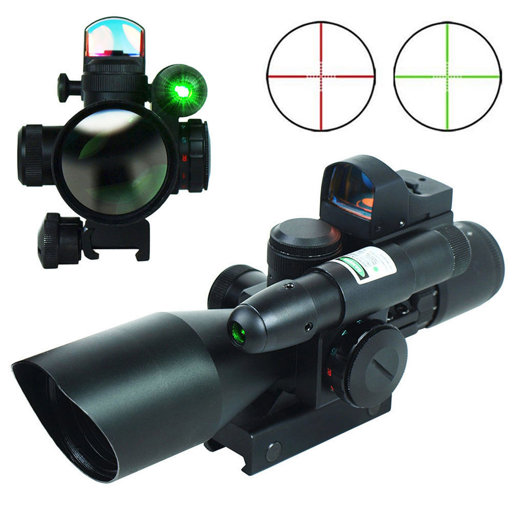2.5-10X40 Hunting Sight Scope Red/Green Dot Laser Riflescope Chasse Tactical Optical Reflex 3 MOA  Airsoft Air Guns Rifle Scope