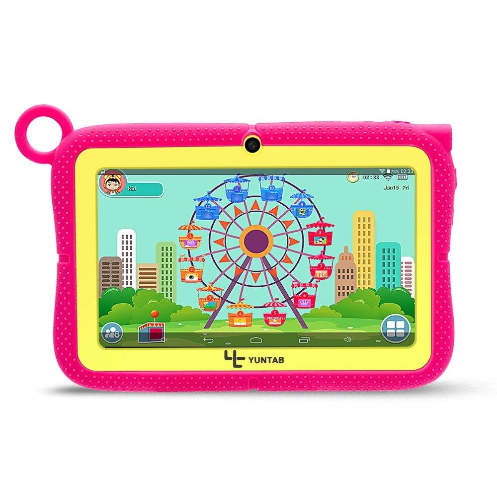 YUNTAB 7 pouces Q88R tablette PC avec contrôle Parental iWawa logiciel pour l'apprentissage, jeu 3D HD vidéo pris en charge avec étui Chic
