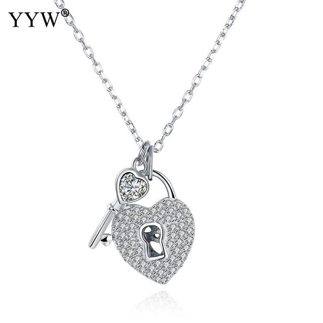Creative key lock pendant necklace oval chai jewelry necklace for creative key lock pendant necklace oval chai jewelry necklace for women aloadofball Image collections