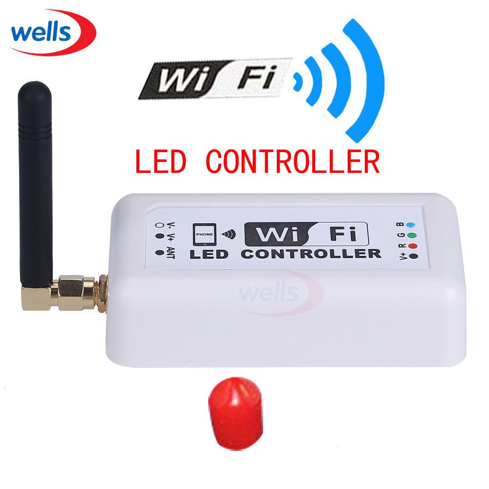 ФОТО High quality music wifi370 led controller,Millions color RGB LED controller WIFI,for Iphone,Android 2.3Version IOS