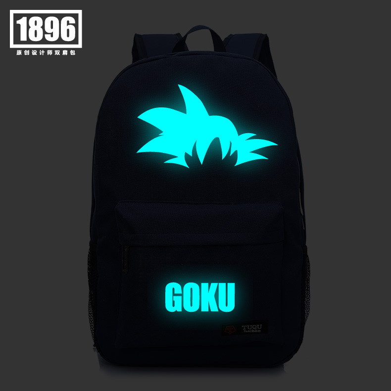 ФОТО Anime Dragon Ball CosplayNew luminous men and women Korean students fashion bag Harajuku school wind shoulder bag child birthday
