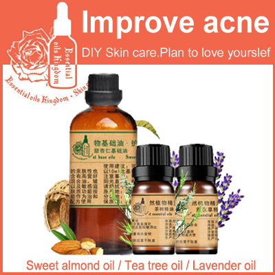 Free Shopping Massage Sweet Almond / Tea Tree / Lavender Oil Base 100ml Essential