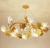 Modern crystal chandelier gold luxury aluminum tree branches lamp living room bedroom restaurant hotel decorative lights