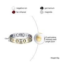Bio Elements Magnetic Healing Stainless Steel Bracelet