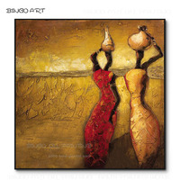 Professional Artist Hand painted High Quality Thick Paints Abstract African Woman Oil Painting Fine Art African Woman Painting