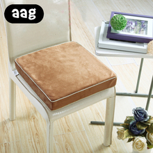 AAG Thickened Elastic Tatami Seat Cushion Washable Soft Solid Square Antiskid Chair Pad for Home Office Sofa 45x45