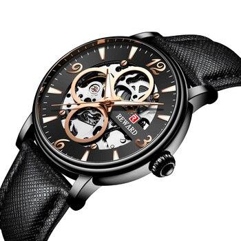 Reward Men's Watch Quartz Casual Mens Watches Leather Wristwatch Sports Zone Military Male Clock erkek saat Dropshipping 2019