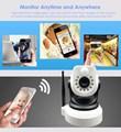 Cámara IP inalámbrica Wifi 720 P HD Mega de memoria sd Audio P2P PIR de Alarma de Grabación de La Visión Nocturna IR-CUT PTZ Onvif Red de APLICACIÓN GRATUITA