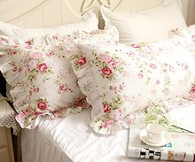 fadfay bedding sets shabby pink rose floral print