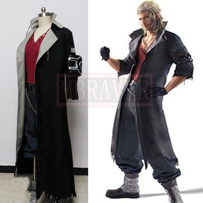 Japanese PSP Video Game Final Fantasy 13 Leader of NORA Snow Villiers Cosplay Costume Trench Set Halloween Costume
