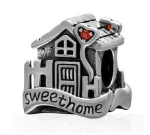 On Sales 100% Authentic 925 Silver Sterling Charm Sweet Home Bead Fit Original Bracelet Bangle Jewelry Making Berloques Gift