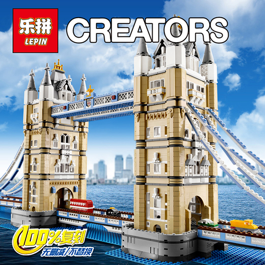 2018 New Lepin 17004 4295pcs London bridge Model Building Kits Brick lepin DIY Toys Compatible 10214 for kids gift toys in stock new lepin 17004 city street series london bridge model building kits assembling brick toys compatible 10214