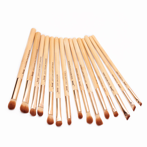 Image 5 - Jessup Brush 15pcs Beauty Bamboo Professional Makeup Brushes Set T137 & Cosmetics Bags Women Bag CB001 Make up brush tools