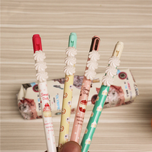 Novelty cake Plastic Mechanical Pencil Automatic Pen For Kid School Office Supply Trolltech cute style