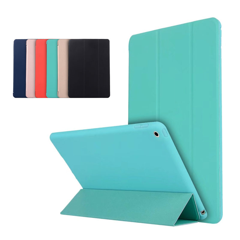 Ultra thin PU Leather Smart Cover with Soft TPU Silicone Back Stand case for Apple ipad air 1 9.7 A1474 A1475 A1476 Tablet PC