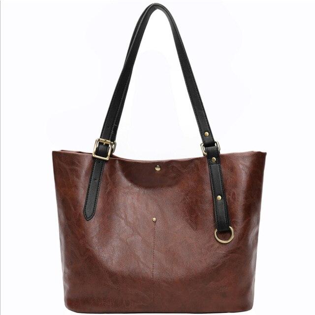 High Quality PU Women Shoulder Bag Female Handbag Causal Totes Shopping All-Purpose Handbag For Women Leather Bag 1