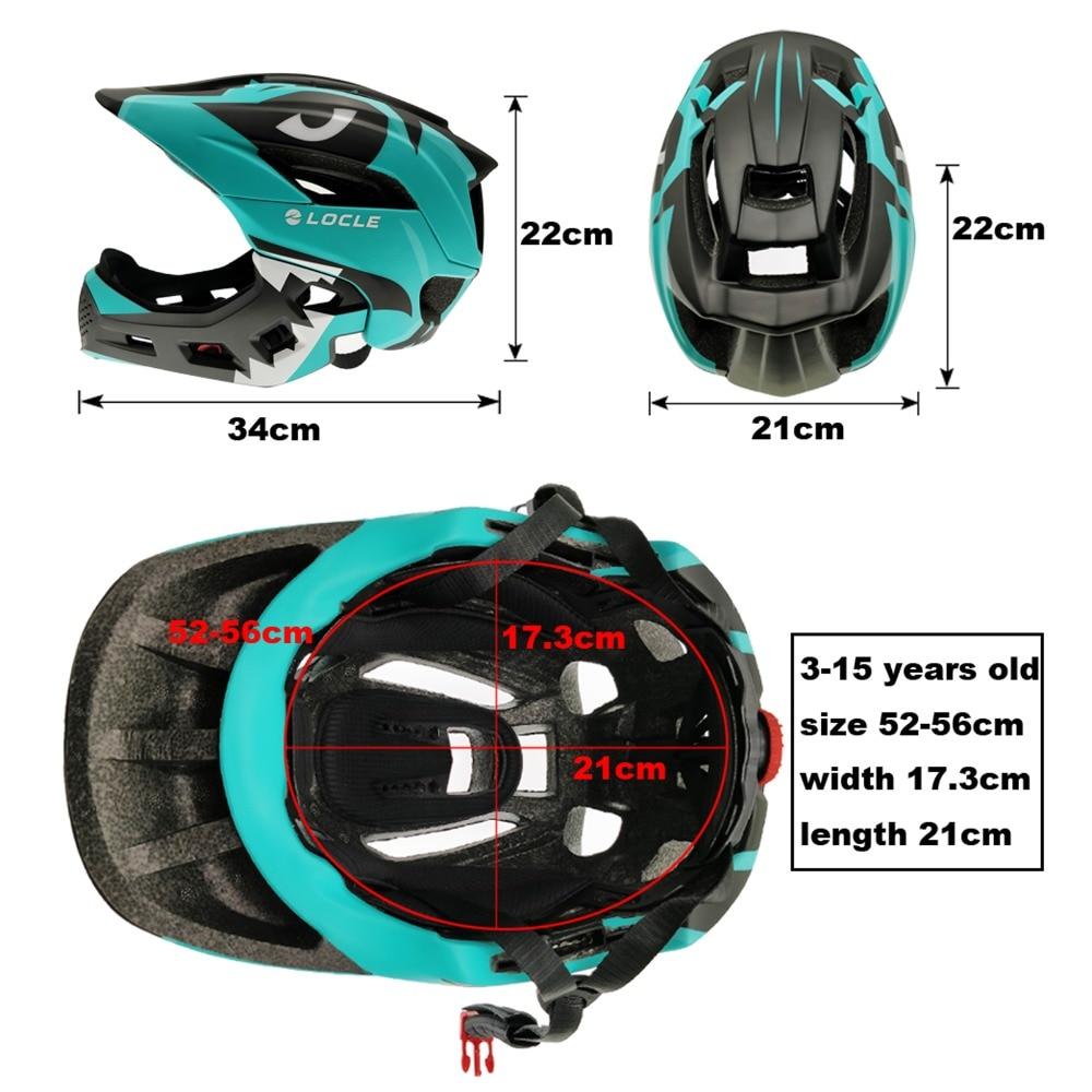 LOCLE 3 15 歳フル子供自転車ヘルメットバランスバイク子供フルフェイスサイクリングヘルメットローラースケートスキーヘルメット  グループ上の スポーツ & エンターテイメント からの 自転車用ヘルメット の中 3