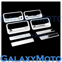 XYIVYG 1992 1995 for Chevy Blazer Triple Chrome Plated 4 Door Handle+WITH PSG Keyhole Cover